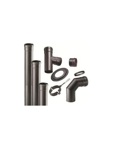 Kit tubos negros vitrificados para instalacion estufas pellets - Tubos estufa pellets ...