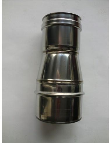 ADAPTADOR  PARA  CHIMENEA PELLET DE D.100 A D.80 mm.