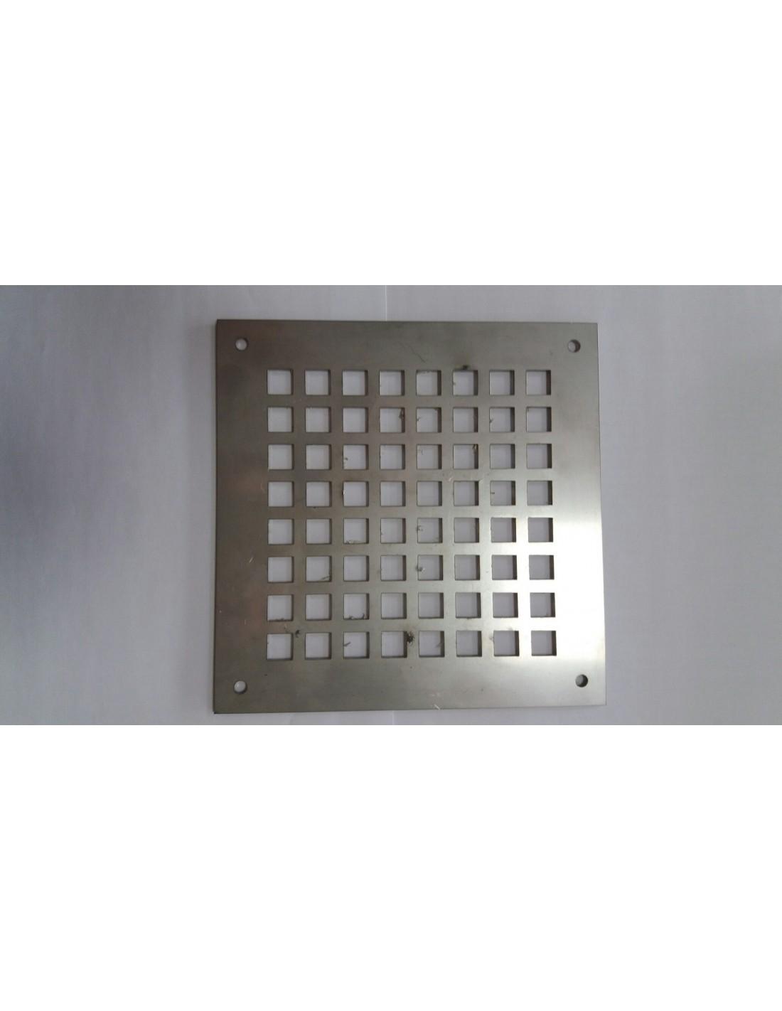 Rejilla ventilaci n cuadrada acero inox - Rejilla de ventilacion regulable ...